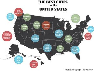 Map of the Best Cities