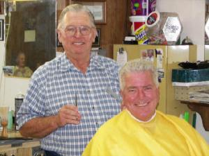 Howser getting a clip job from Gordon Bean