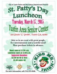 St. Patricks Day Luncheon at the Senior Center